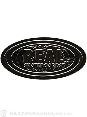Real Bold World Oval Sticker Medium GOLD