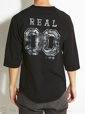 Real Camo '00' 3/4 Sleeve Tee Black MD