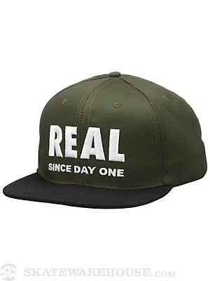 Real Day One Snapback Hat Olive/Black Adj.