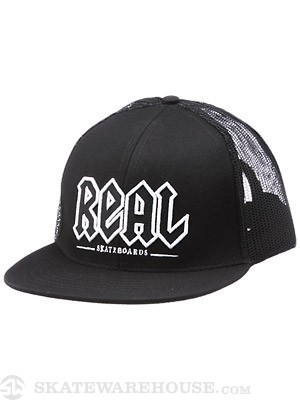 Real Deeds Trucker Hat Black Adjustable