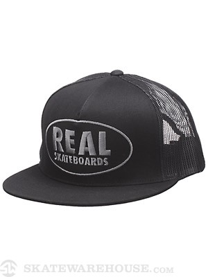 Real Exposed Trucker Hat Black Adj.