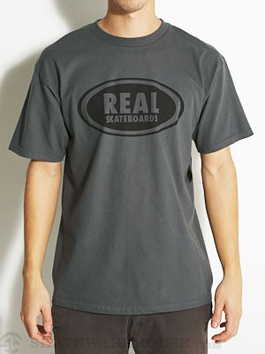 Real OG Oval Tee Charcoal/Black MD