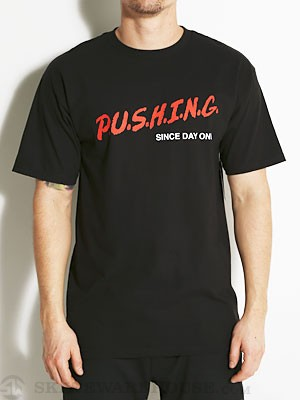 Real Pushing In The Streets Tee Black MD