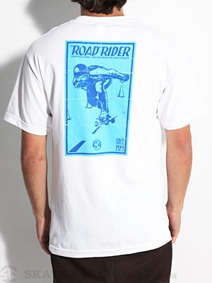 Road Rider Centerlines Tee White SM