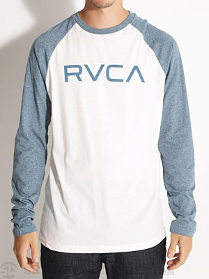 RVCA Big RVCA 3/4 Sleeve Raglan White/Blue XXL