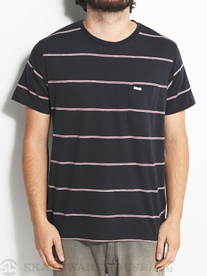 RVCA Emmet Stripe Knit Shirt Ink XL