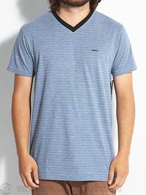 RVCA Grain Knit V-Neck Blue XXL