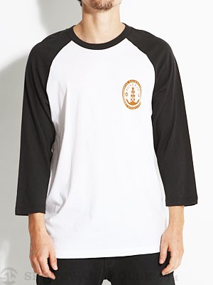RVCA Oil And Water 3/4 Sleeve White/Black SM
