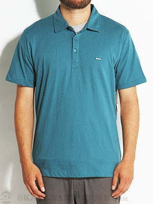 RVCA Sure Thing Polo Shirt Blue/OBL SM