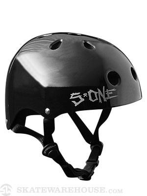 S-One Premium Skateboard Helmet Gloss Black SM