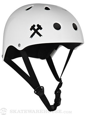 S-One Premium Skateboard Helmet White MD