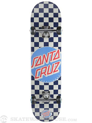 Santa Cruz Check Dot Blue Complete  7.9 x 31.7
