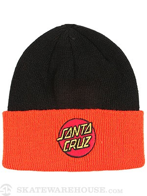 Classic Dot Shoreman Beanie Black/Orange