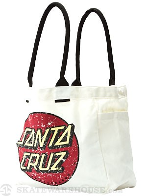 Santa Cruz Classic Dot Tote Bag  Natural