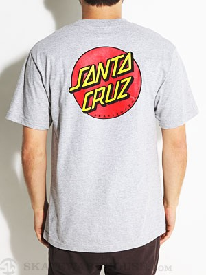 Santa Cruz Classic Dot Tee Athletic Heather SM