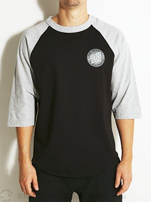 SC Cali Dot 3/4 Sleeve Black/Athletic Heather MD