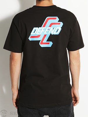 Santa Cruz Defend Tee Black/Blue SM