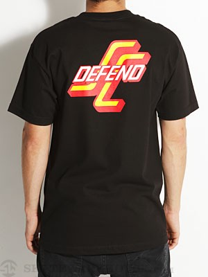 Santa Cruz Defend Tee Black/Red SM