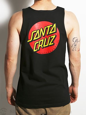 Santa Cruz Classic Dot Tank Top Black MD