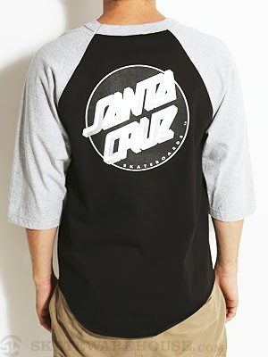 Santa Cruz Other Dot Raglan Blk/Ath Hthr SM