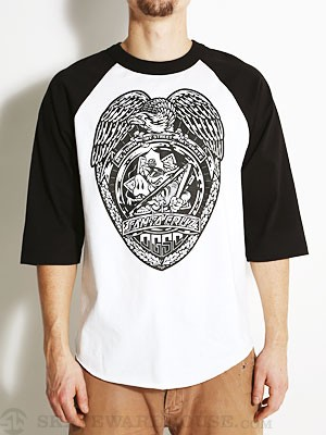 Santa Cruz OGSC Badge Raglan White/Black SM