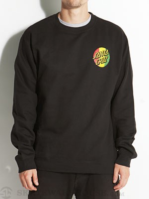 Santa Cruz Rasta Dot Crewneck Black MD