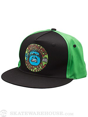 Santa Cruz Speed Cruz Twill Hat Green/Black Adj.