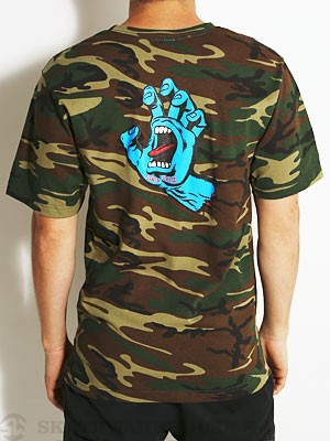 Santa Cruz Screaming Hand Tee Camo MD