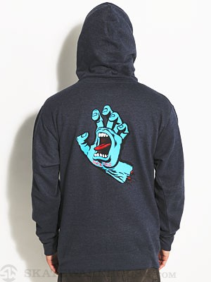 Santa Cruz Screaming Hand Hoodie Navy SM