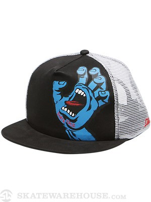 SC Screaming Hand Mesh Hat Black/White Adj.