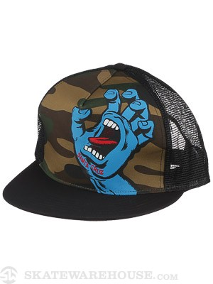 Santa Cruz Screaming Hand Hat Camo/Black Adj.