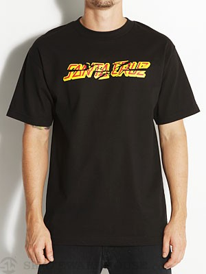 Santa Cruz Shatter Strip Tee Black SM