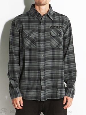 Santa Cruz Strip Flannel Grey Plaid MD