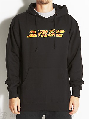 Santa Cruz Shatter Strip Hoodie Black MD