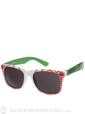 Santa Cruz Slasher Sunglasses  White/Green