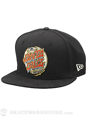 Santa Cruz Trip Dot New Era Snapback Hat Black