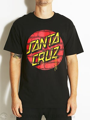 Santa Cruz Tagged Dot Tee Black SM