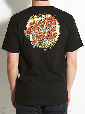 Santa Cruz Trip Dot Tee Black SM