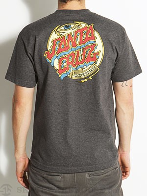 Santa Cruz Trip Dot Tee Heather Charcoal SM
