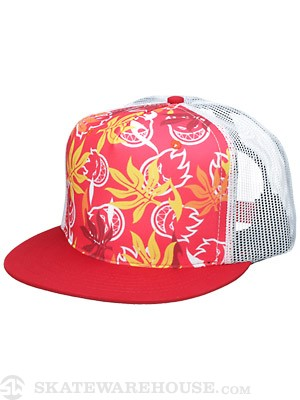 Spitfire Aloha Trucker Hat Red Adjustable