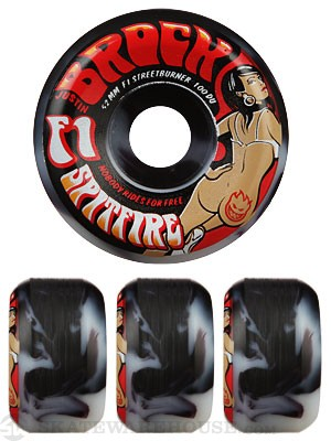 Spitfire F1SB Brock Ass Cash or Grass Swirl SFW Wheels