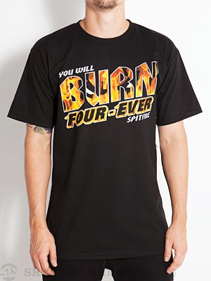 Spitfire Burn Four-Ever Tee Black SM