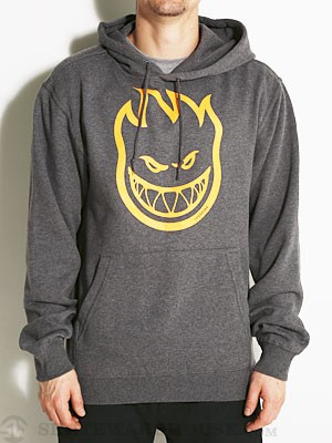 Spitfire Bighead Hoodie Heather Charcoal XL