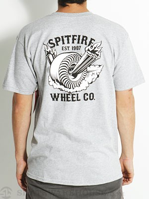Spitfire Back Burner Tee Athletic Heather SM