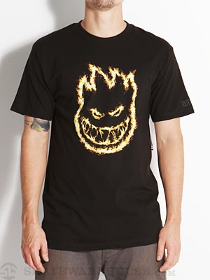 Spitfire Charred Remains Tee Black SM