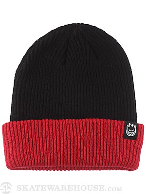 Spitfire Double Fire Beanie Black/Red
