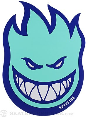 Spitfire Fireball Fill Sticker Large Blue/Light Blue