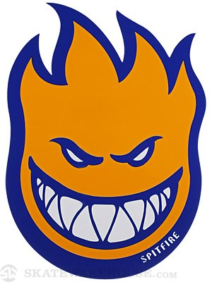 Spitfire Fireball Fill Sticker Large Blue/Orange