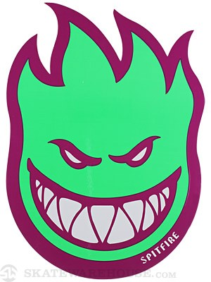 Spitfire Fireball Fill Sticker Large Purple/Green