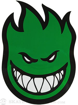 Spitfire Fireball Sticker Large GREEN